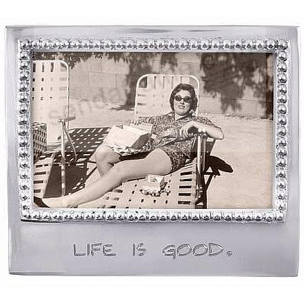 The original LIFE IS GOOD Statement frame for 4x6 prints crafted by Mariposa®