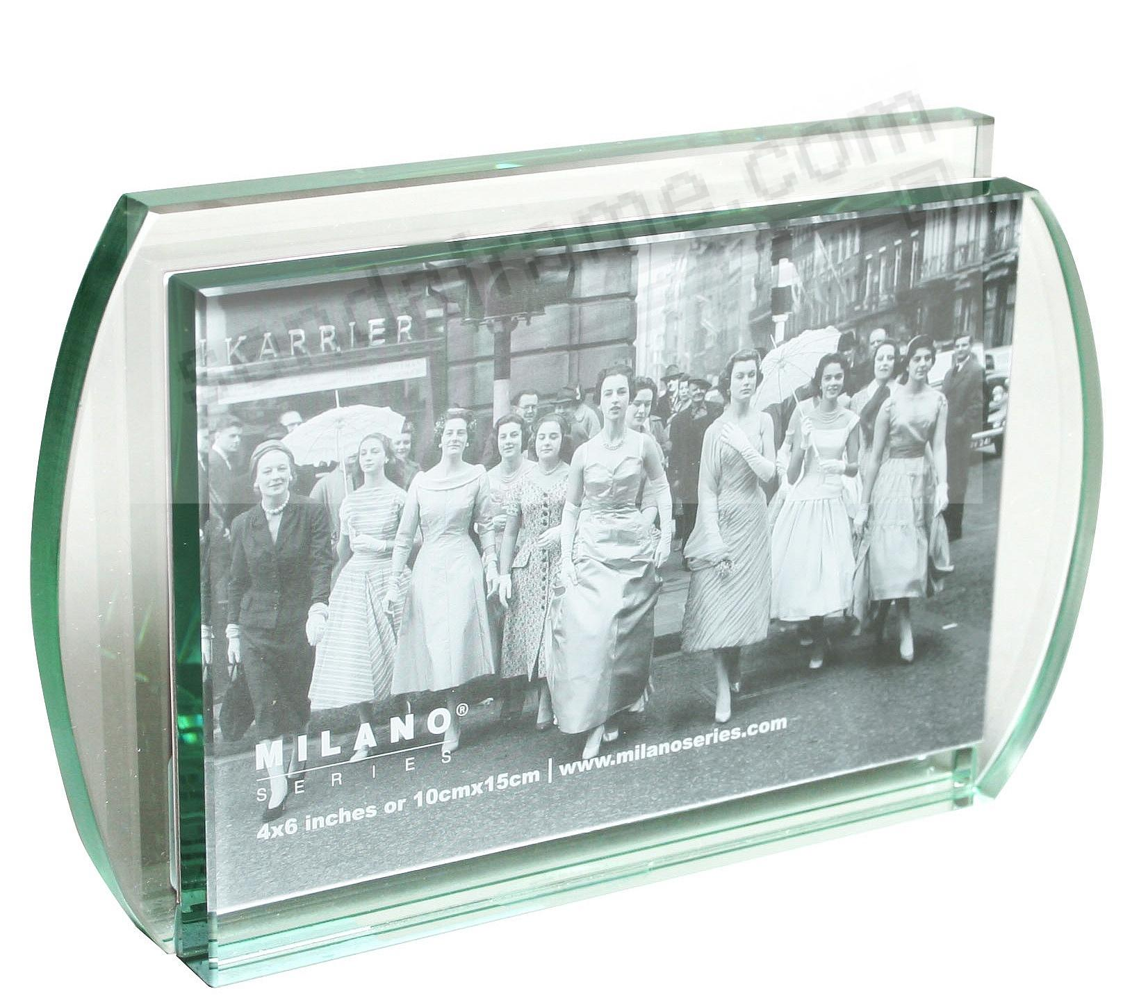 Intersection glass frame by milano series picture frames for Engraved digital photo frame