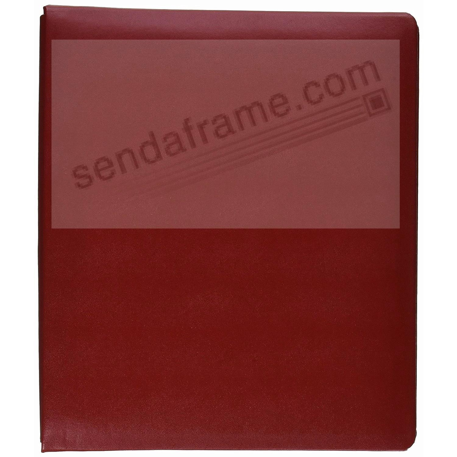 Bonded Leather 8½x11 Red MEMORY BOOK by Pioneer® - Huge Capacity!