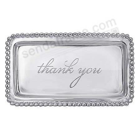 THANK YOU 7in STATEMENT TRAY crafted by Mariposa®