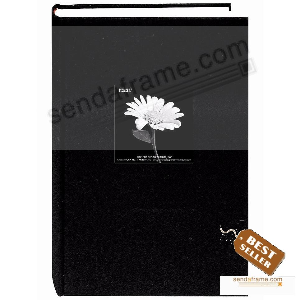Deep-Black cloth frame cover 3-up 4x6 Bi-Directional 300 pocket album by Pioneer®