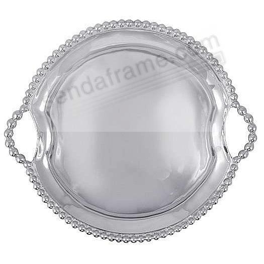 PEARL ROUND HANDLED TRAY by Mariposa®
