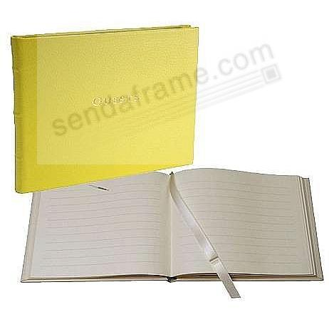 Bound GUEST BOOK in Fine Neon-Yellow Leather for a lasting record by Graphic Image®