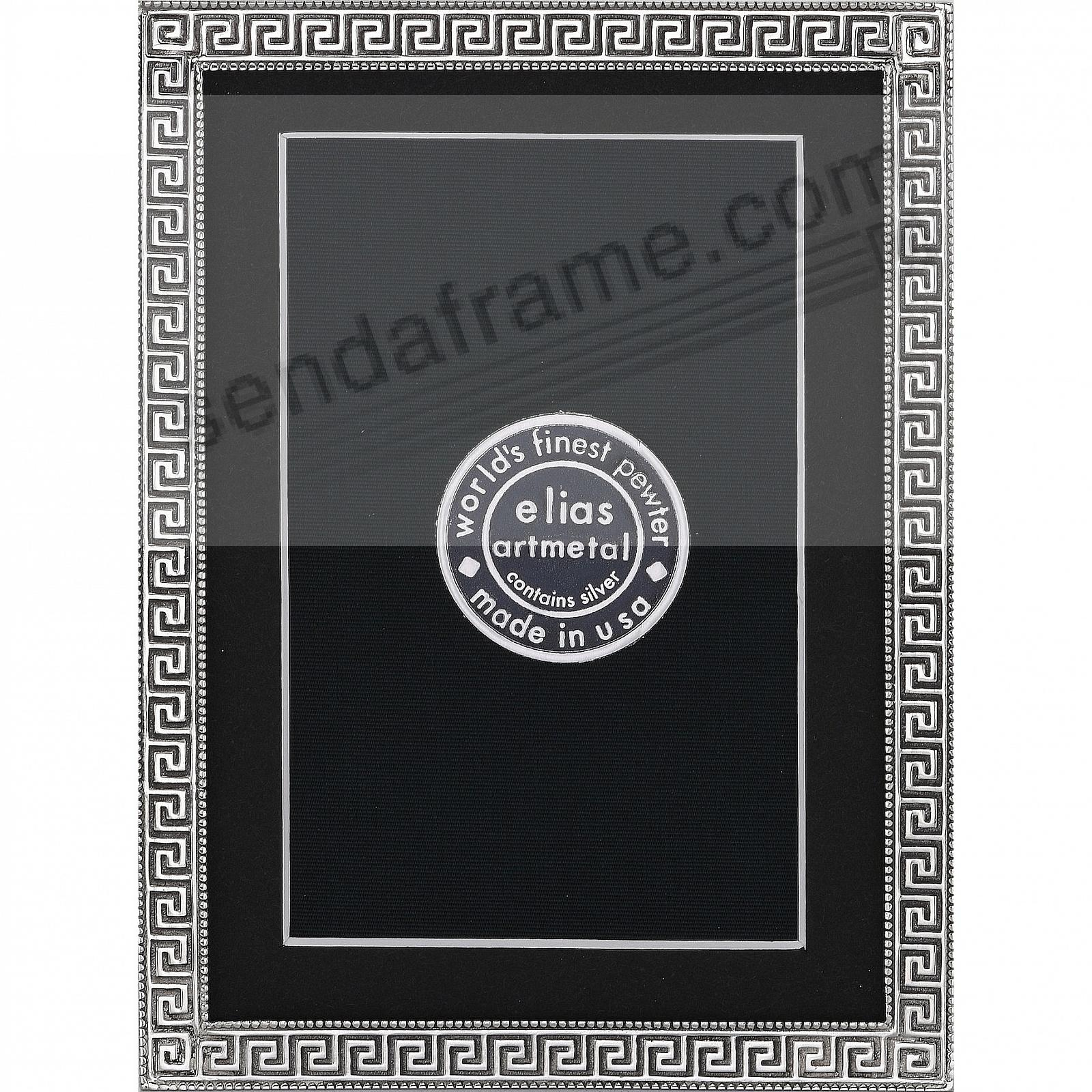 GREEK KEY Fine Pewter 4x6/3½x5½ frame by Elias Artmetal®