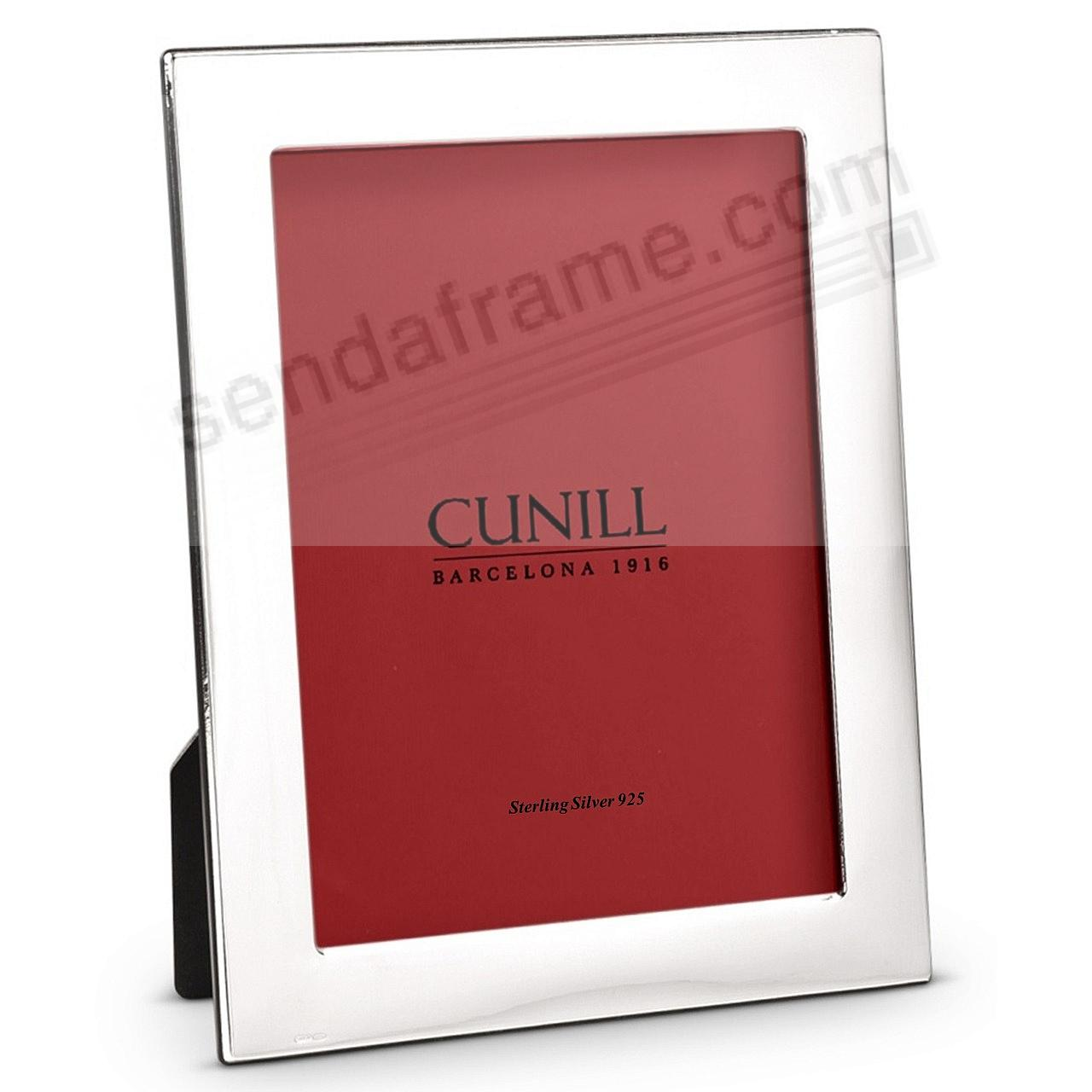 The PLAIN 1inch Fine Sterling Silver 5x7 frame<br>by Cunill®