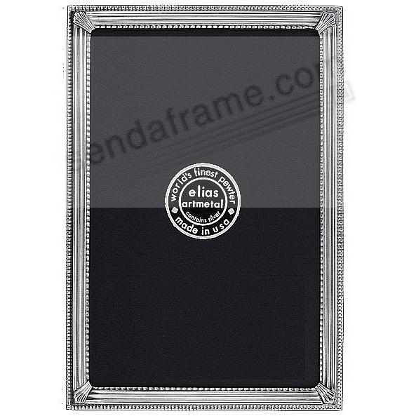TRAX Silvered Fine Pewter frame<br>by Elias Artmetal®