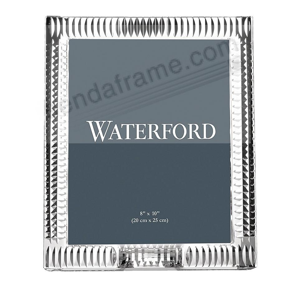 LISMORE DIAMOND crystal design 8x10 frame by Waterford®