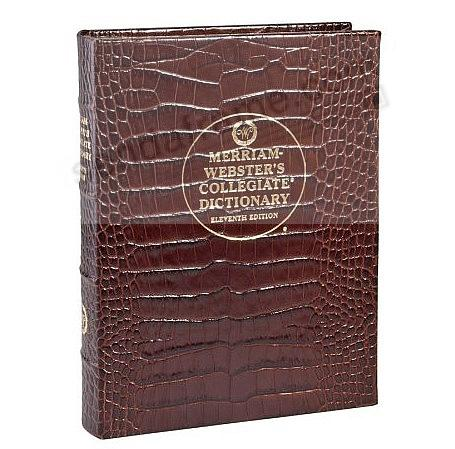 Merriam-Webster Collegiate DICTIONARY CROCO-BROWN LEATHER by Graphic Image®