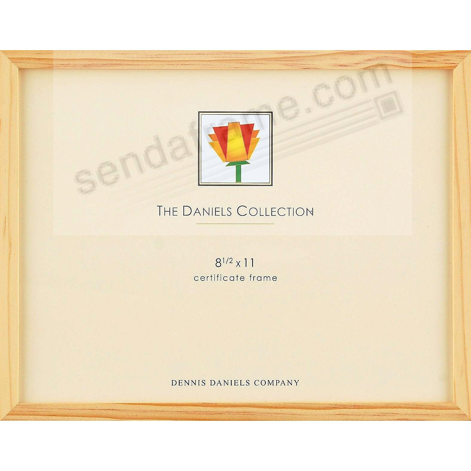 The Original DANIELS W41: Square Corner GALLERY WOODS Natural Finish certificate size frame