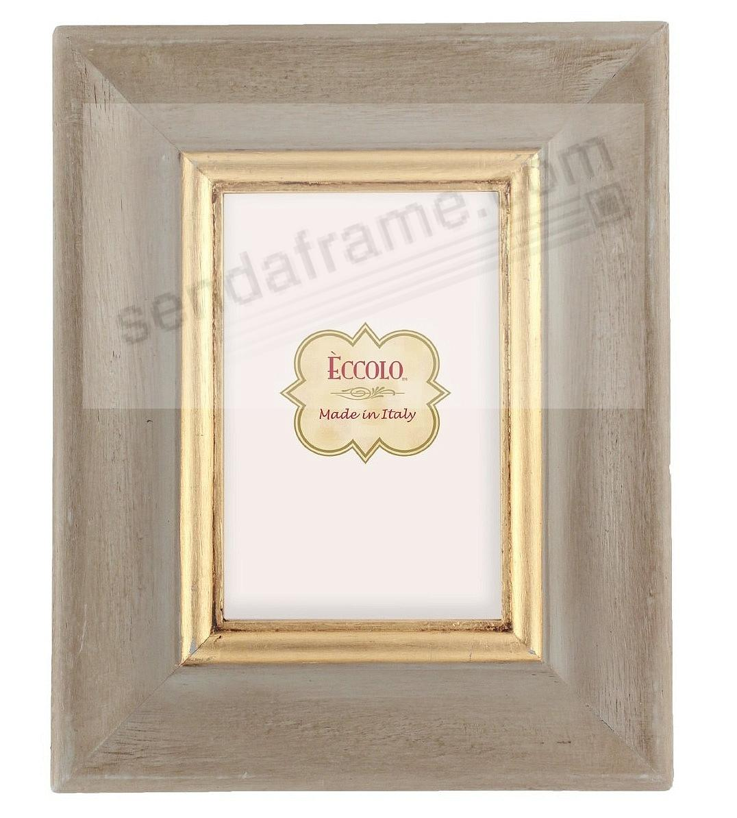 antique grey and gold carved wood 5x7 frame by eccolo. Black Bedroom Furniture Sets. Home Design Ideas