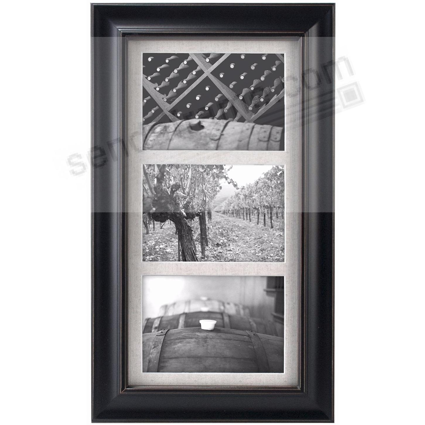 BARNSIDE Weathered Black frame for three 5x7 prints by Malden®