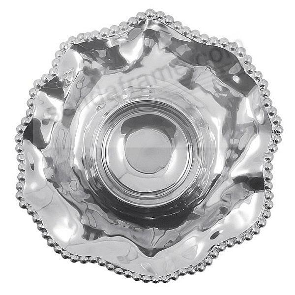 The Original PEARLED WAVY CHIP & DIP 14inch BOWL by Mariposa®