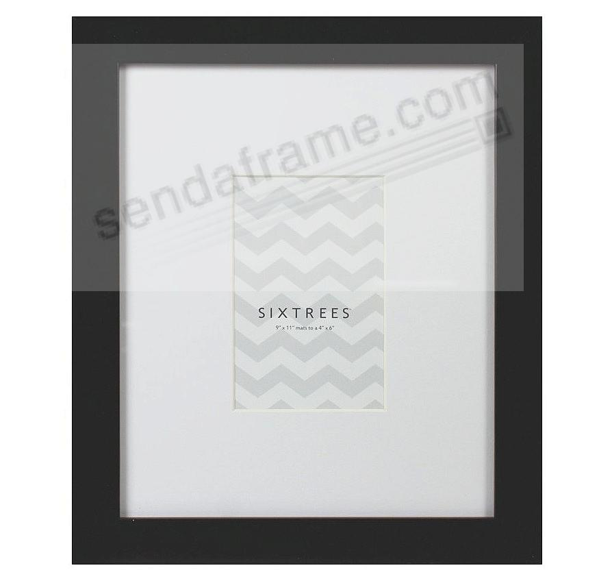 BLACK MATTED 4x6/9x11 frame by SIXTREES® - Picture Frames ...