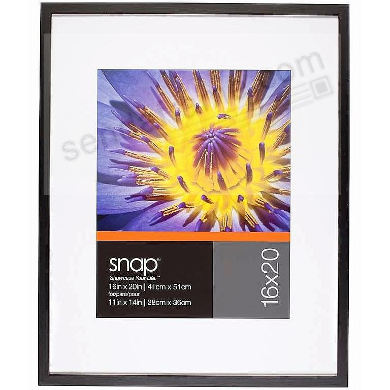 Black Wall Frame 16x20/11x14 matted SNAP®