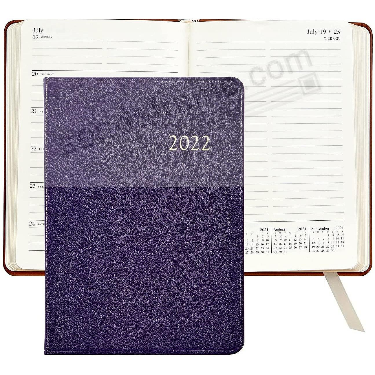 2017 Notebook Planner 7inch Brights-PURPLE Fine Leather by Graphic Image™