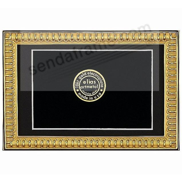 SPARTAN SHIELD 18kt Gold Vermeil over Fine Pewter 5x7/4x6 frame by Elias Artmetal®