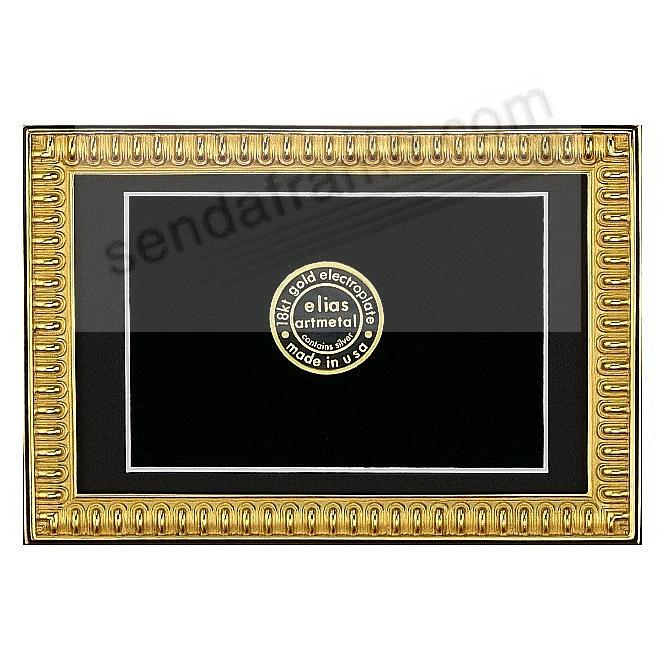 SPARTAN SHIELD 18kt Gold Vermeil over Fine Pewter 8x10/7x9 frame by Elias Artmetal®