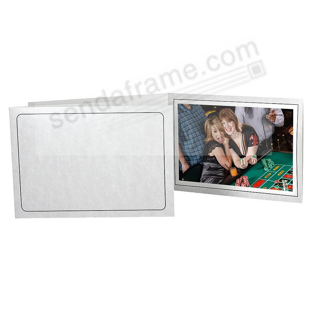 Printed MARBLE Cardstock Photo Folder Single 10x8 Horizontal Frame (sold in 25s)