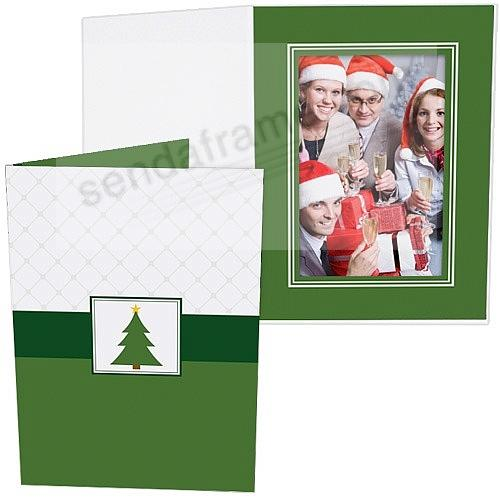 CHRISTMAS TREE Holiday Photo Folder for 5x7 (portrait) prints