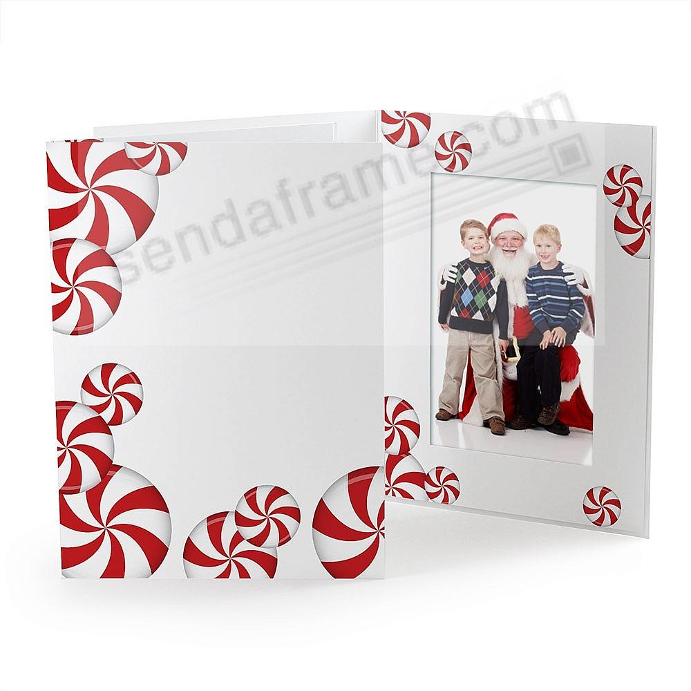PEPPERMINT CANDY Holiday Photo Folder for 5x7 (portrait) prints