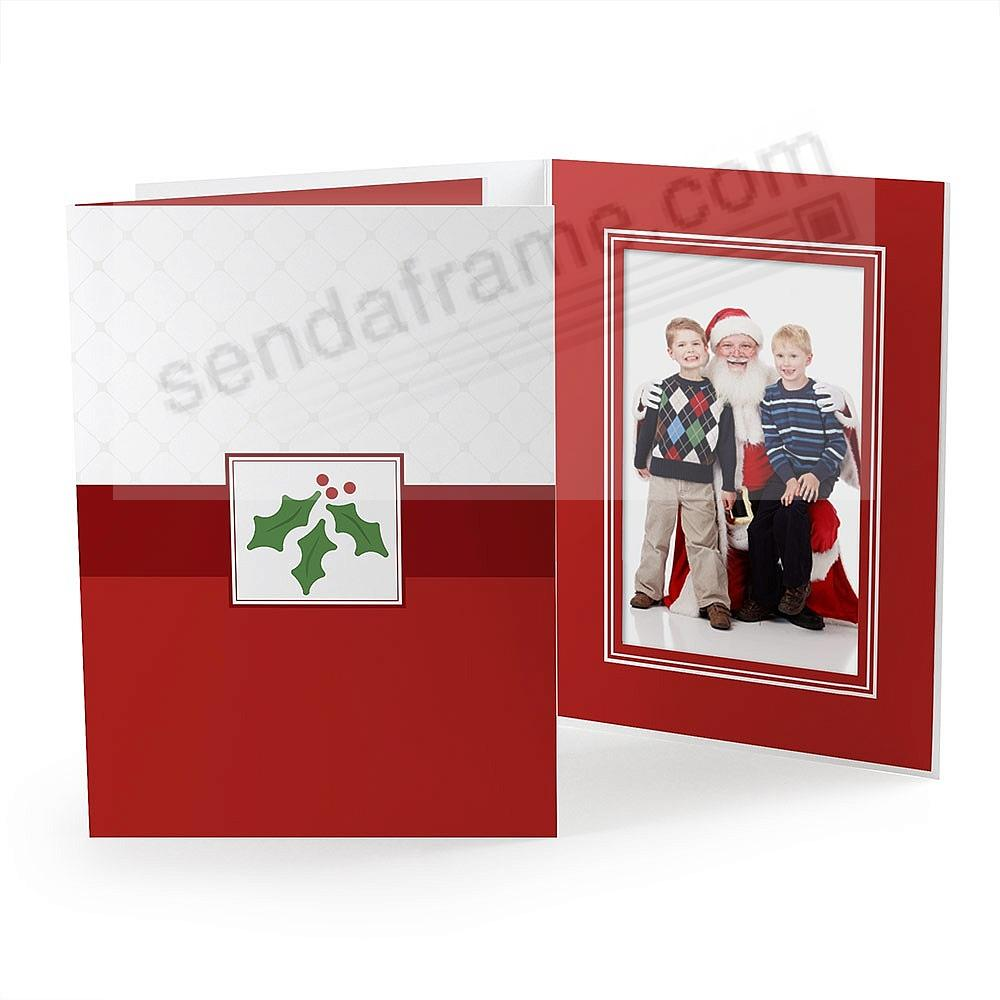 HOLIDAY HOLLY Photo Folder for 5x7 (portrait) prints