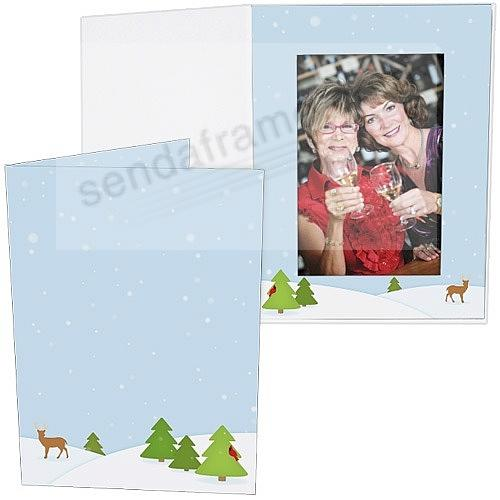 WINTER FOREST Holiday Photo Folder for 5x7 (portrait) prints