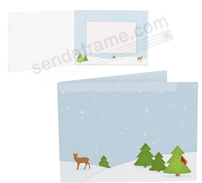 WINTER FOREST Holiday Photo Folder for 6x4 (landscape) prints