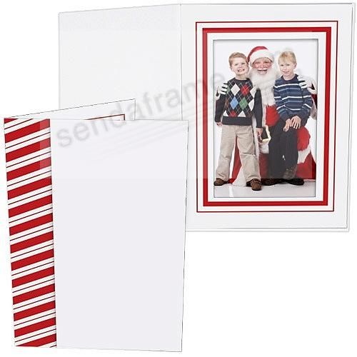 CANDY CANE Holiday Photo Folder for 4x6 (portrait) prints