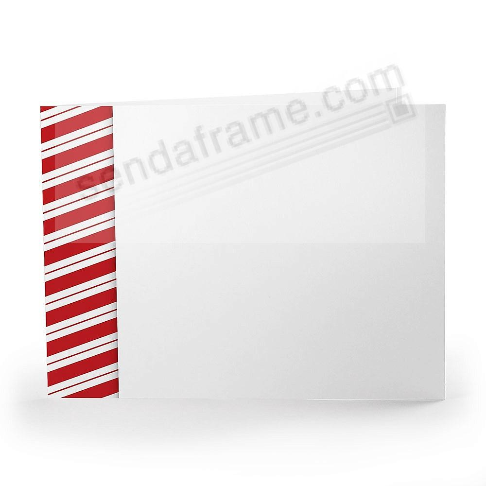 CANDY CANE Holiday Photo Folder for 7x5 (landscape) prints