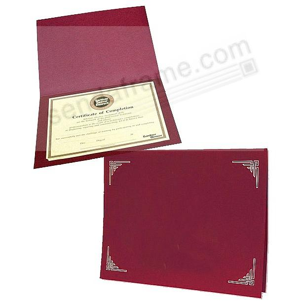 Burgundy Certificate Folders for 8x10 or 8½x11 Inserts (sold in 25s)