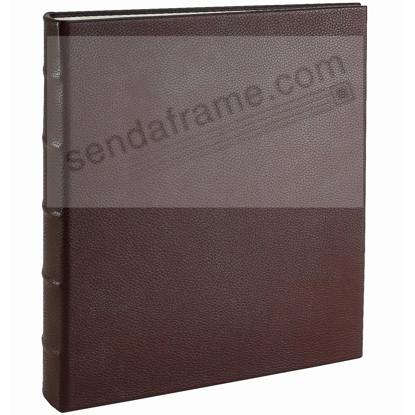 Post Impressions™ System Standard 3-ring  Binder (unfilled) Pebble-Brown Eco-leather