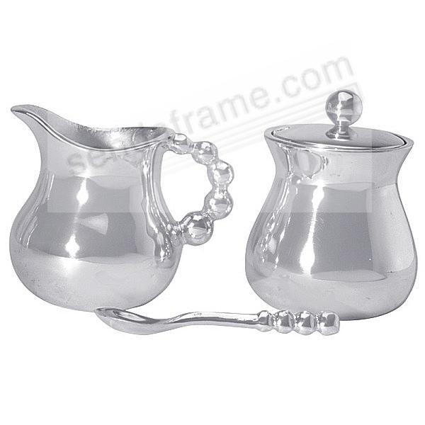 The Original PEARLED CREAMER & SUGAR SET by Mariposa®