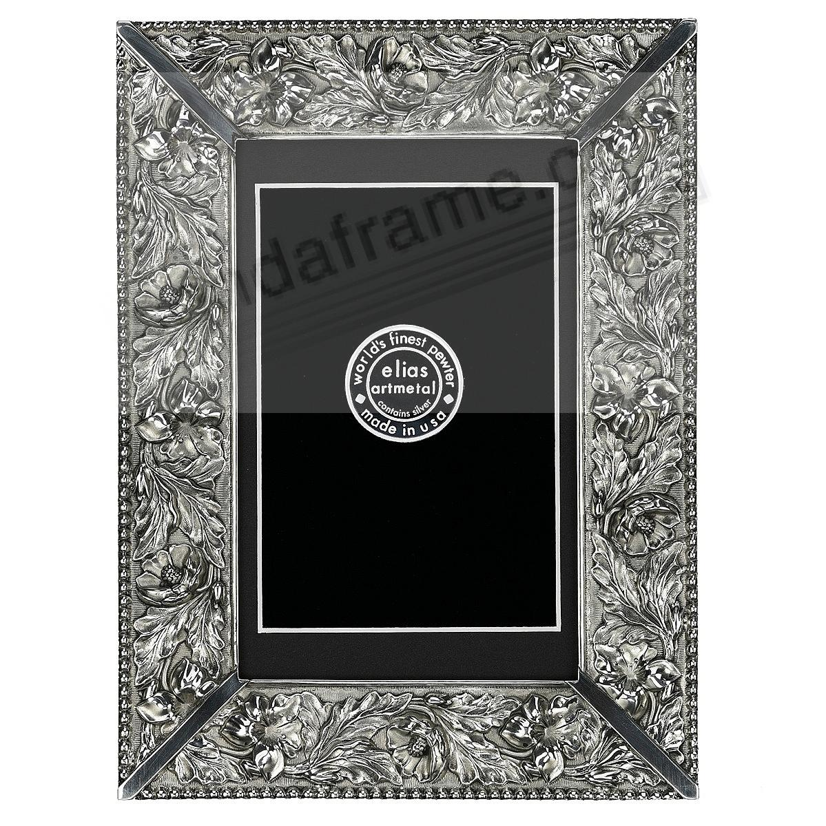 WEDDING FLOWERS Fine Pewter 5x7/4x6 frame<br>by Elias Artmetal&reg;