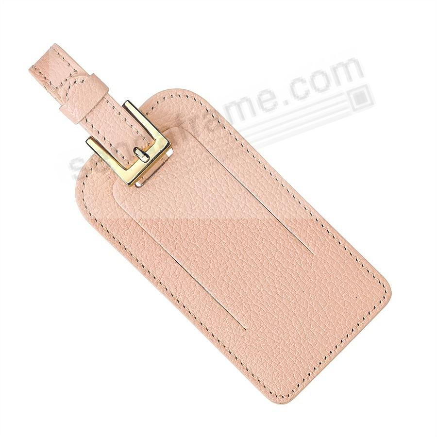 Magenta LUGGAGE TAG Full-Grain Leather by Graphic Image®