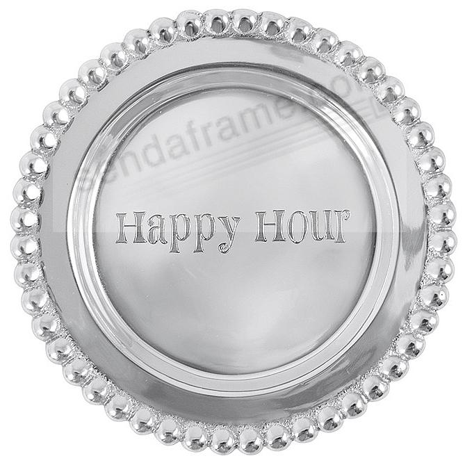 The original HAPPY HOUR BEADED WINE PLATE crafted by Mariposa®