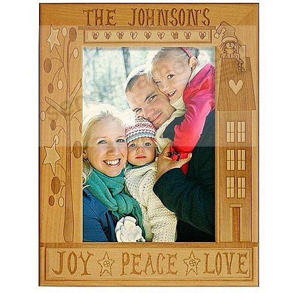 FAMILY CHRISTMAS keepsake frame - Personalized