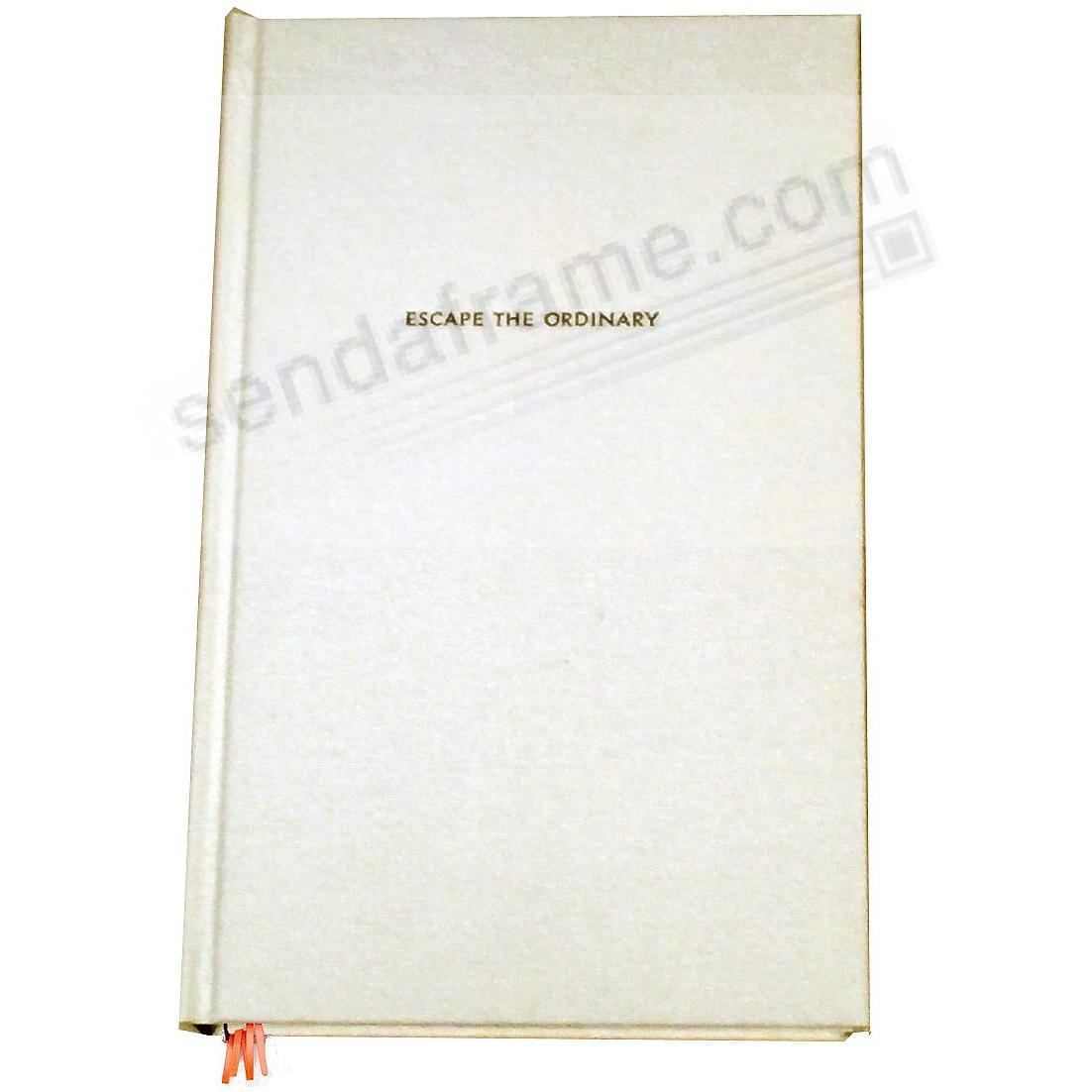 escape the ordinary IVORY Lined Journal by kate spade new york®