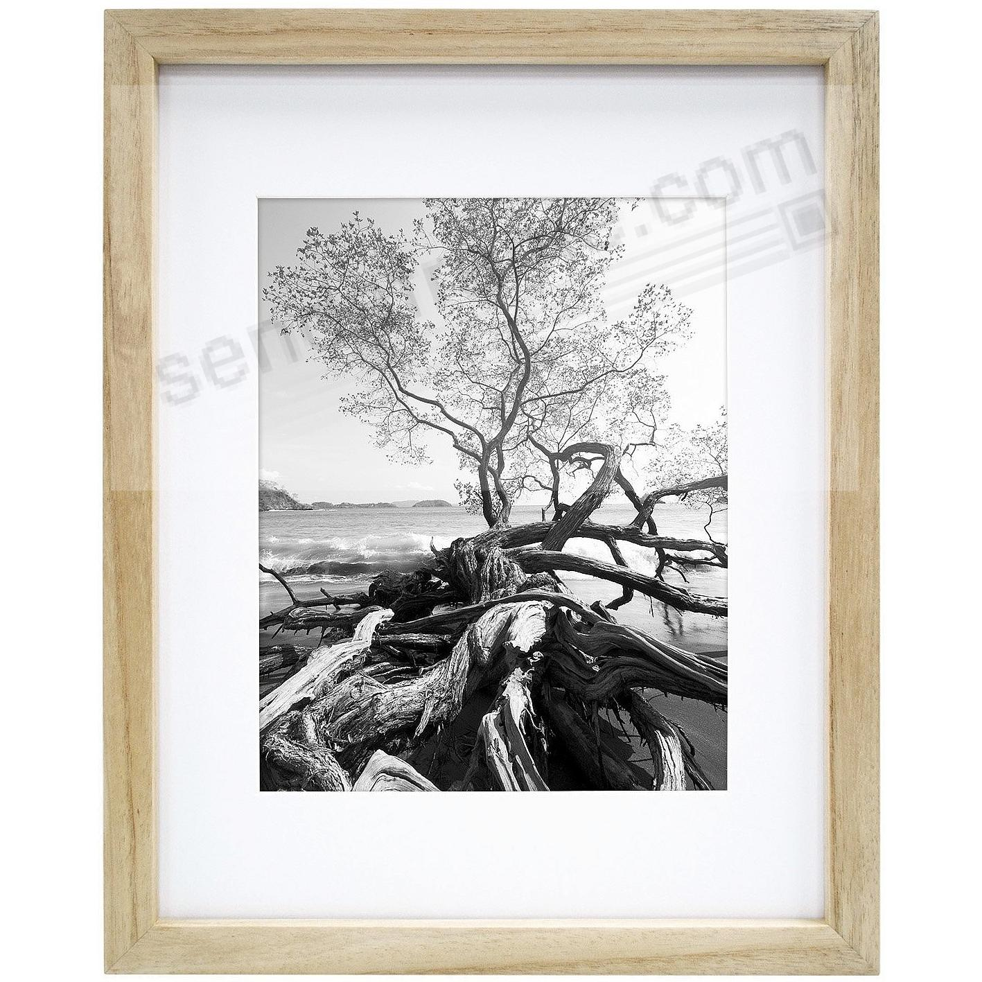 Art Shadow-Box ¾in depth Natural Wood 11x14/8x10 frame by MCS®