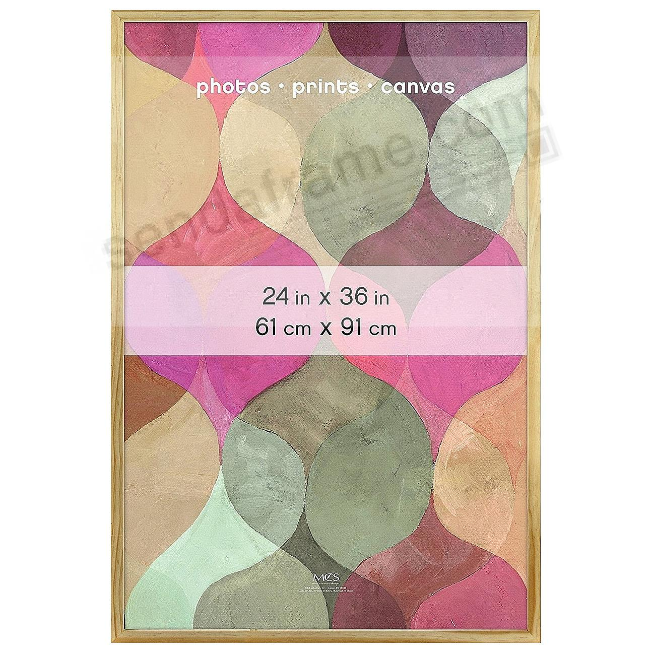 Art Shadow-Box 24x36 ¾in depth Natural Wood frame by MCS® (sold in 4s)