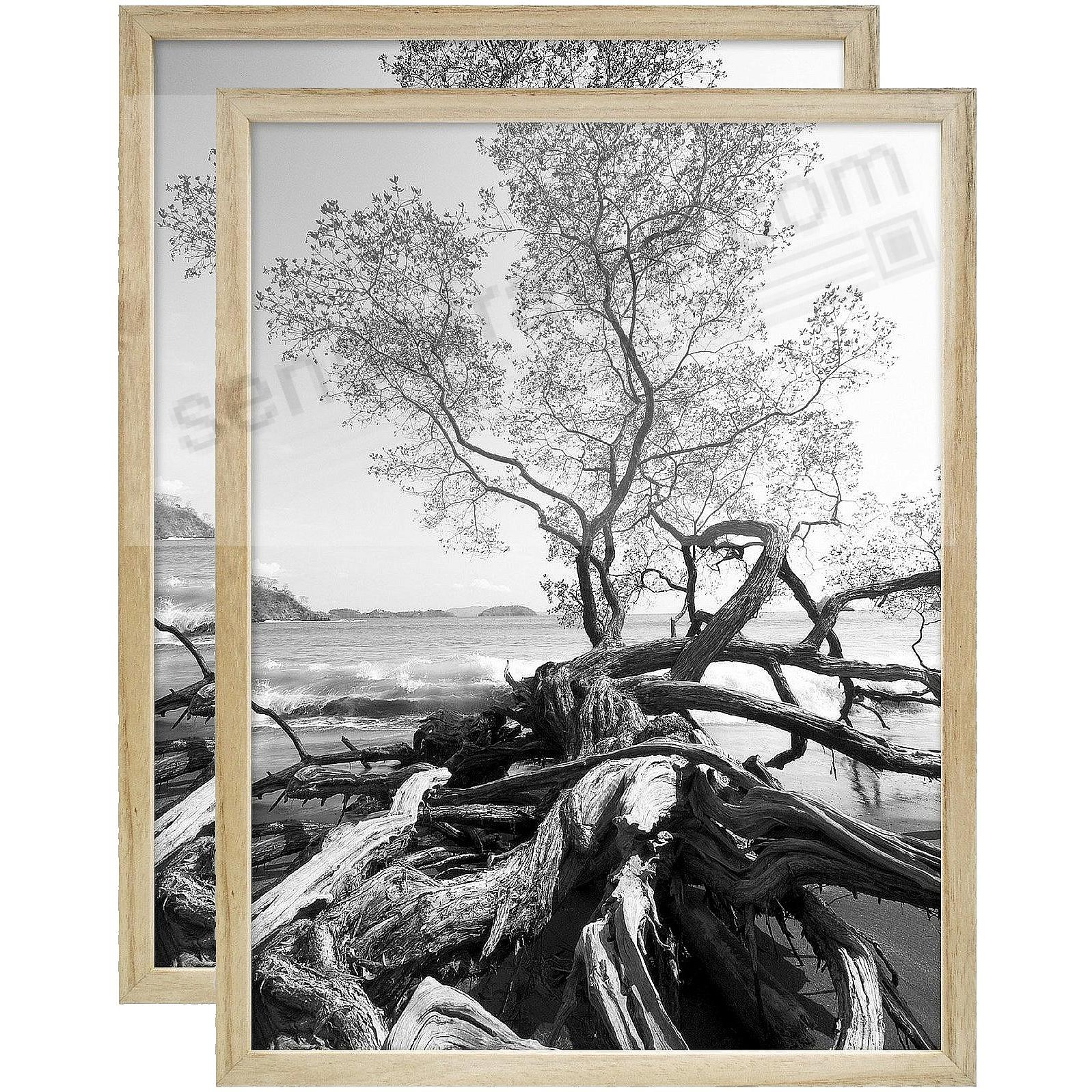 Art Shadow-Box 30x40 Natural Wood frame by MCS® - 2 Pack
