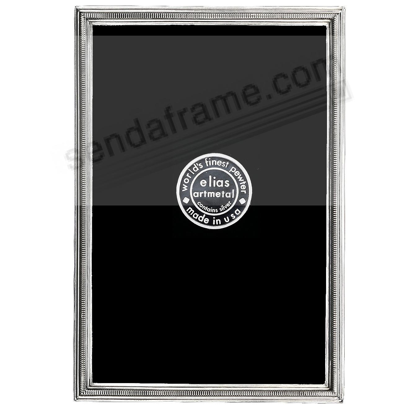 The ZIPPER Fine Silvered Pewter Mini frame 2½x3½ by Elias Artmetal®