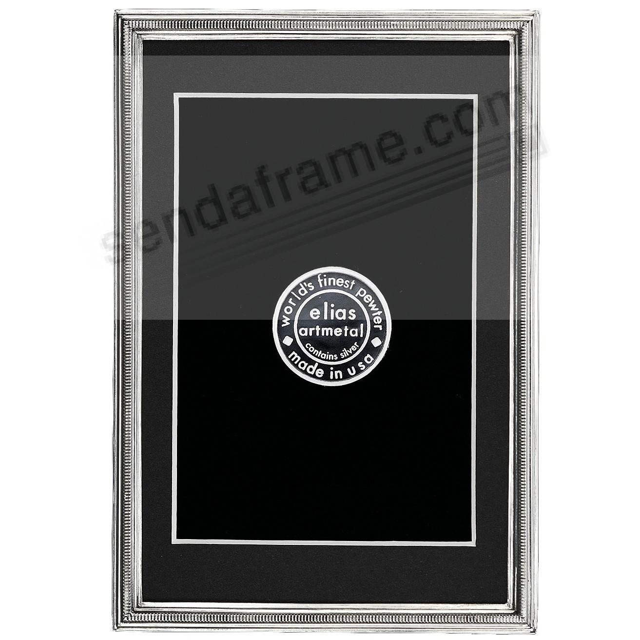 The ZIPPER Fine Silvered Pewter frame 5x7/4x6 by Elias Artmetal®