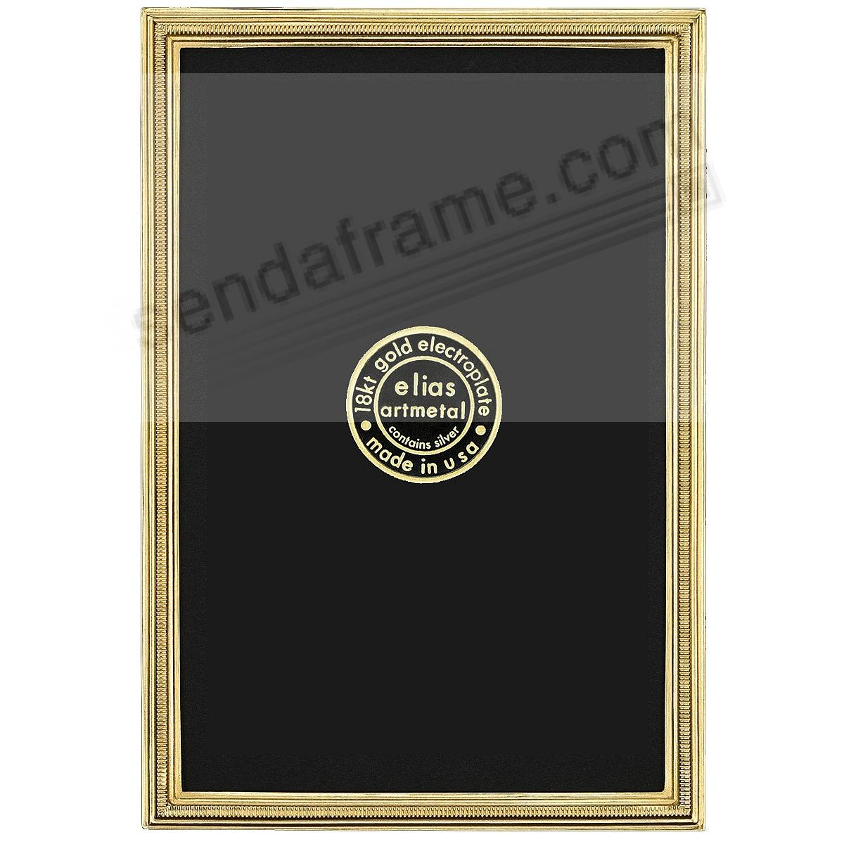 New ZIPPER 18kt Museum Gold Vermeil Mini frame 1¾x2-1/8 by Elias Artmetal®