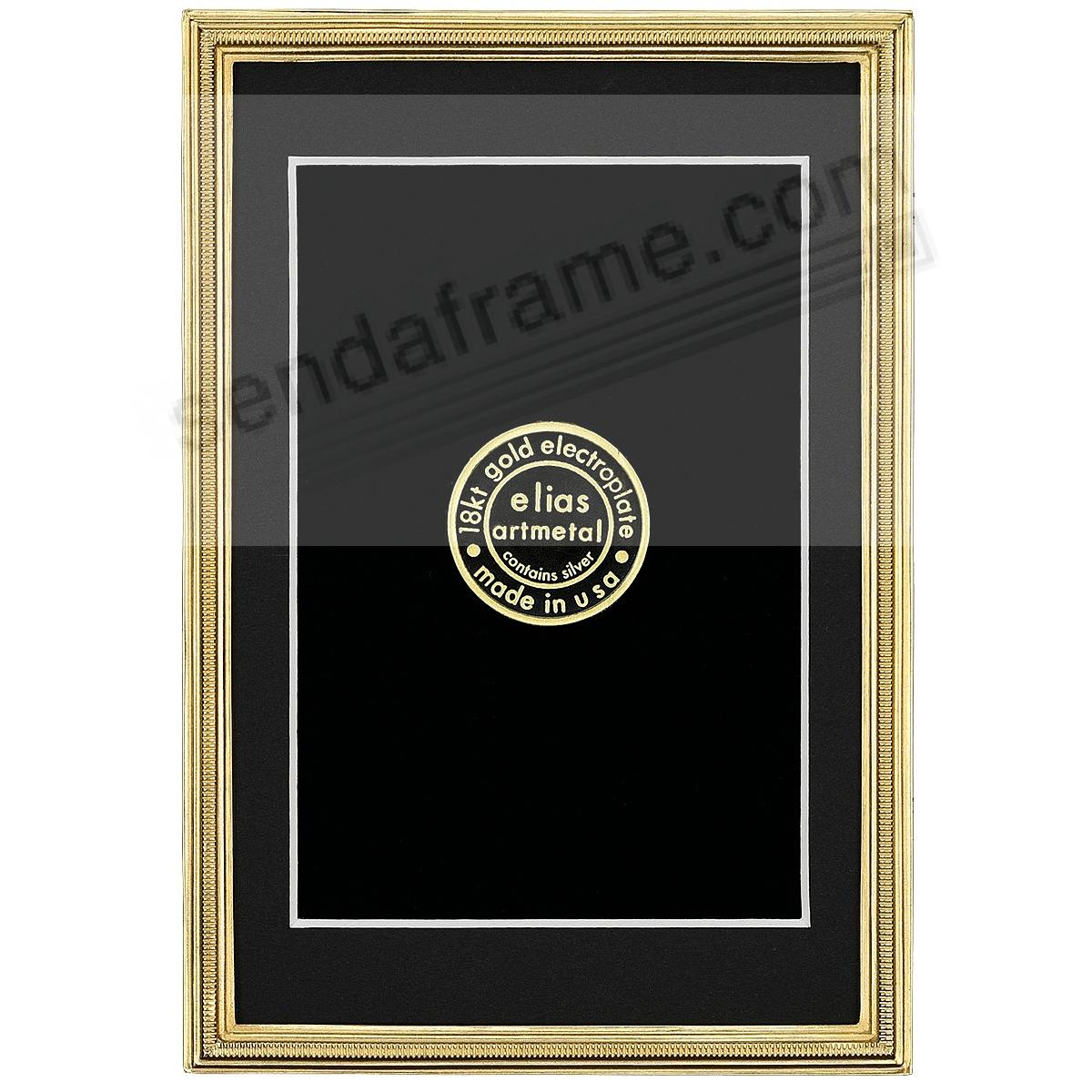 ZIPPER Fine 18kt Museum Gold over Pewter frame 4x6/3½x5½ by Elias Artmetal®