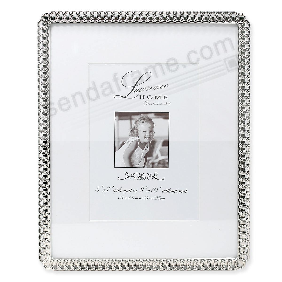 ETERNITY RINGS silverplate 8x10/5x7 frame by Lawrence®