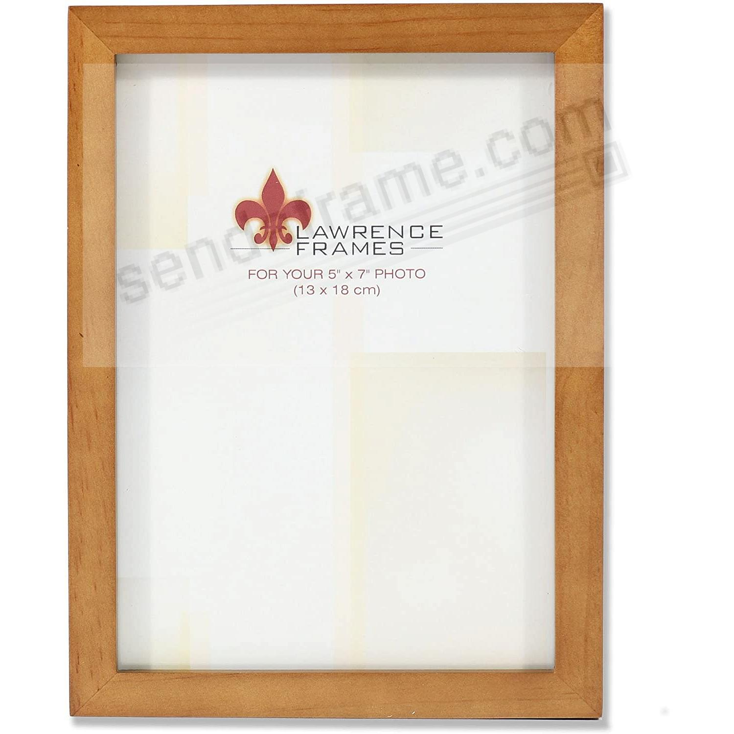 Nutmeg Square-Corner 5x7 frame by Lawrence®