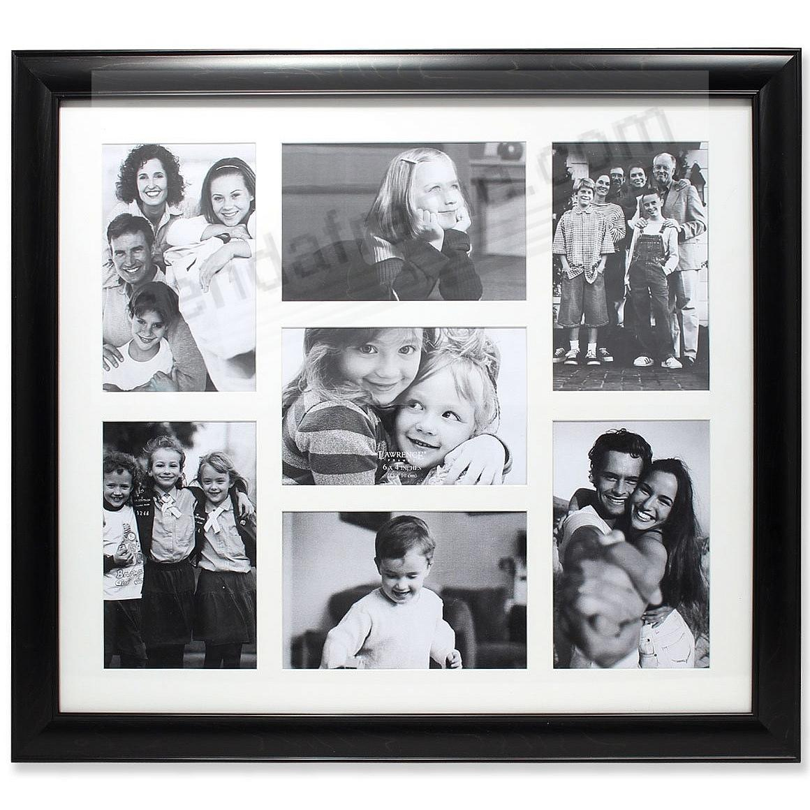 Black Matted collage<br>displays (7) 4x6 photos by Lawrence&reg;