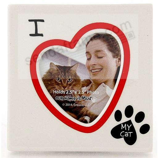 I HEART MY CAT picture frame by Our Name is Mud®