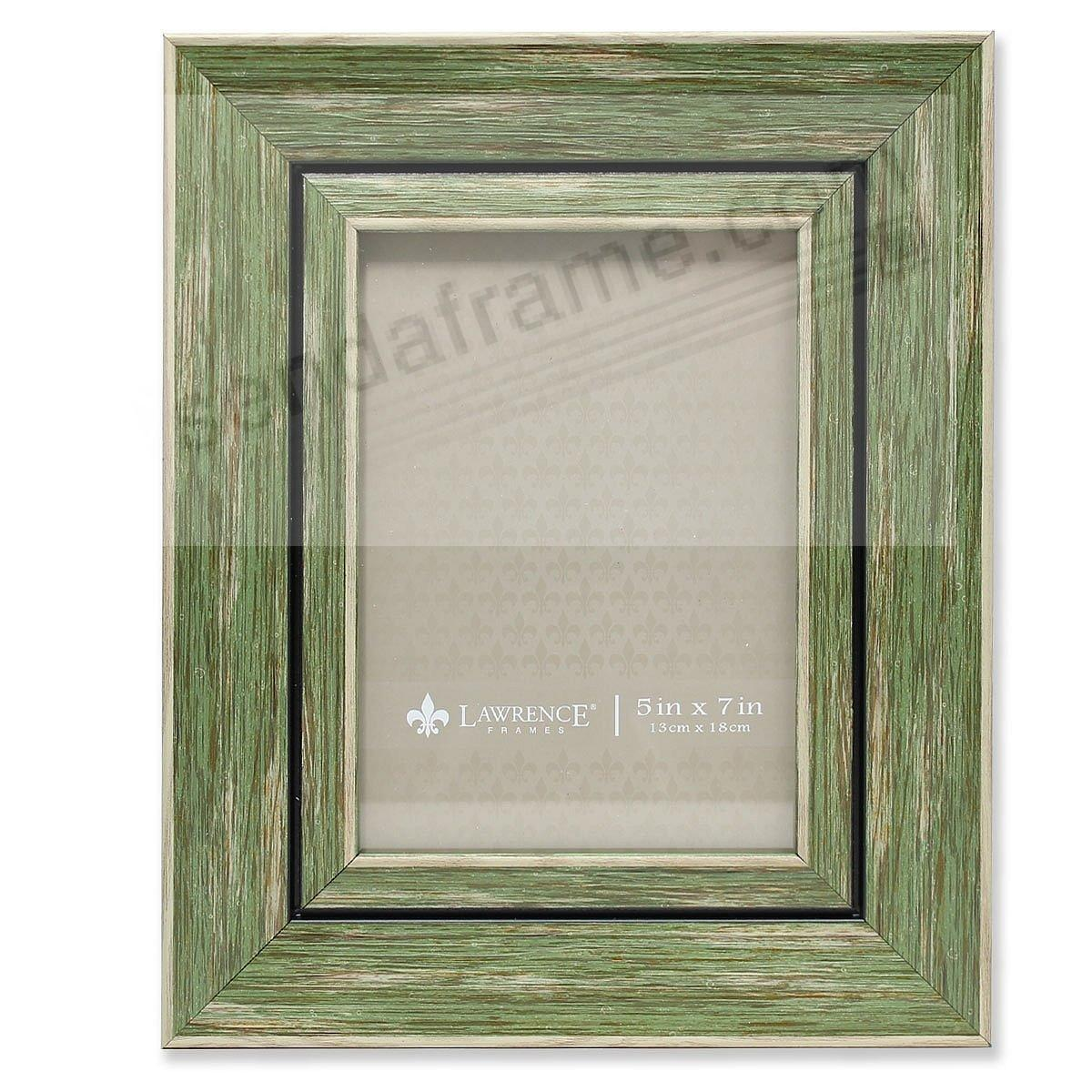 Weathered/Antique Green Angled Wood Frame by Lawrence®