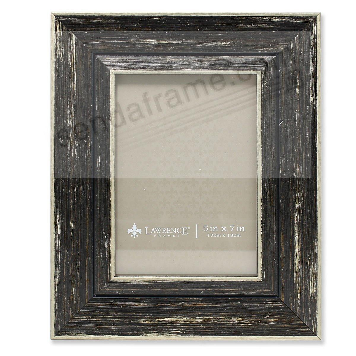 Weathered/Antique Black Angled Wood Frame by Lawrence®
